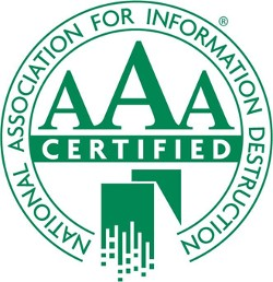 AAA Certified - National Association for Information Destruction